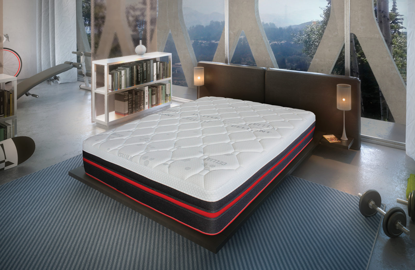 Titanium Celliant Black Mattress